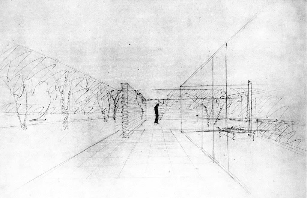 Croquis casas-patio, Mies van der Rohe
